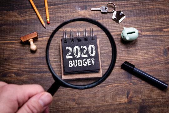 2020 Budget, family finances, economics, trade and career concept