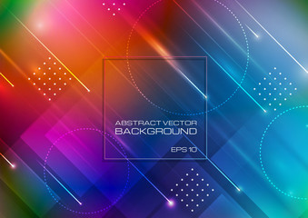 Blurred colors background with geometric shapes