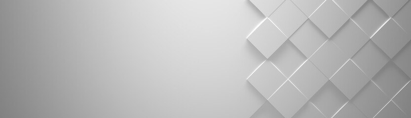 Wide White Background with Copy Space (Website head) (3d illustration)