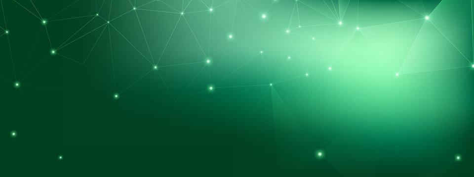 Technology Poster. Big Data Network. Green