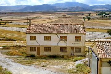 Ancienne école de village fermée. Espagne.