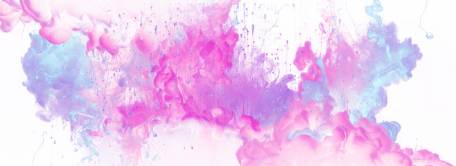 Acrylic colors in water. Ink blot. Abstract background.