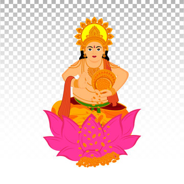 illustration of Lord Kuber in Happy Dhanteras and Diwali festival of India with png background_Vector, Illustration