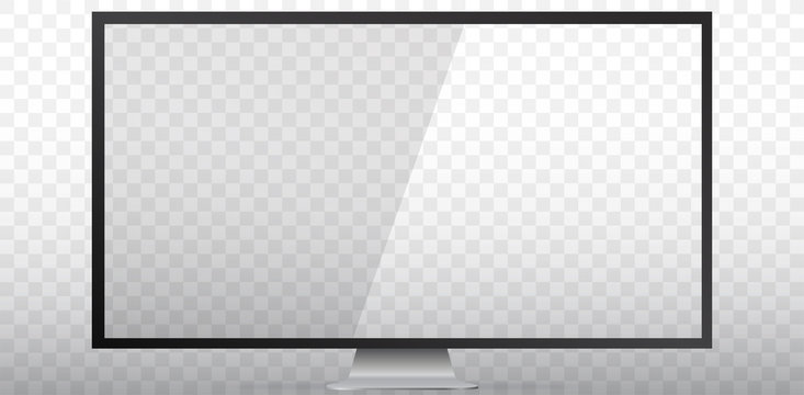 TV Screen Vector Illustration With Transparent Background