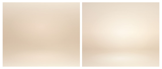 Obraz Beige studio lighting. Soft beige neutral 3d studio background. Warm soft light gold studio lighting. Photostudio soft box neutral lighting. - fototapety do salonu