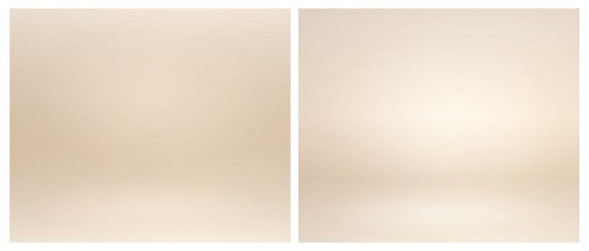 Beige studio lighting. Soft beige neutral 3d studio background. Warm soft light gold studio lighting. Photostudio soft box neutral lighting.
