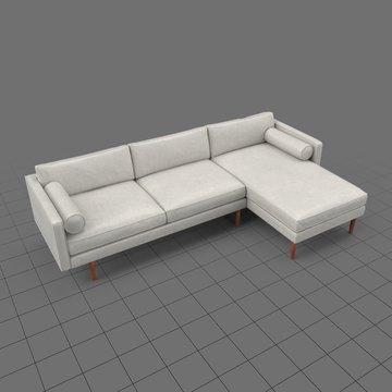 Mid century modern corner sofa 1