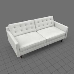 Mid century modern two seater sofa 1