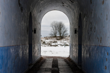Helsinki, Finland. Walls and fortifications of the fortress island of Suomenlinna. A World Heritage Site since 1991