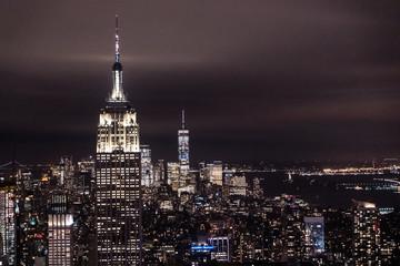 New York, New York, USA night skyline, view from the Empire State building in Manhattan, night skyline of New York. photography