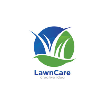Creative Lawn Care Logo Design Template