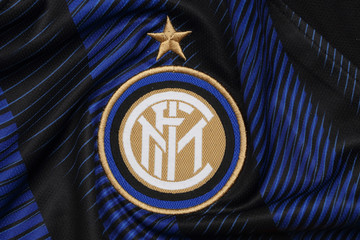 BANGKOK, THAILAND - JULY 24: The Logo of Inter Milan on the Jersey on July 24