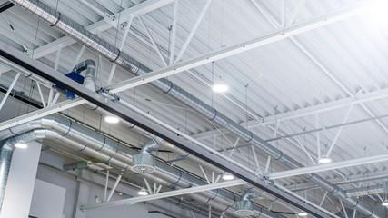 Fototapeta hala magazynowa- nowoczesne oświetlenie ledowe