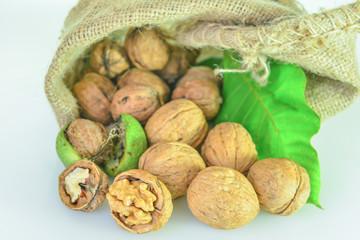 natural shelled fresh walnut serving