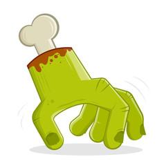 cartoon illustration of a creepy walking hand