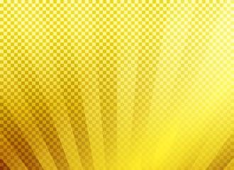 背景:市松模様 シンプル 金 ゴールド グラデーション 集中線 放射