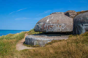 German bunker from the second world war in Hirtshals, Denmark.
