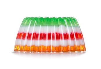 Multicolored Jelly dessert