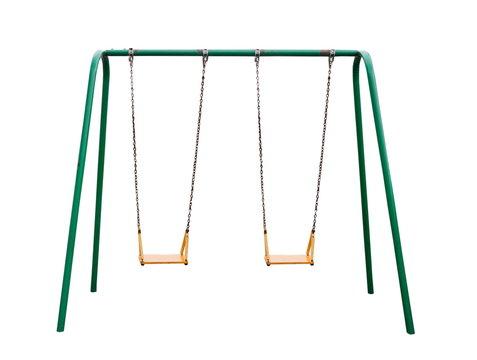 Children playground isolated on white