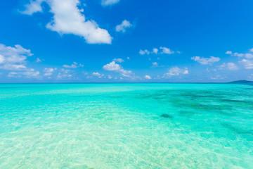Printed roller blinds Ocean 美しい宮古島の海 Beautiful beach in Miyakojima Island, Okinawa.