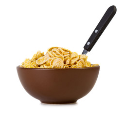 Corn flakes in bowl
