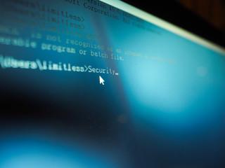 Wall Mural - Internet crime concept. Software developer programming code Security on computer screen.