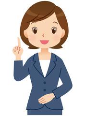 説明する女性 ビジネス