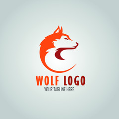 Wolf Abstract template logo design with a modern and elegant concept. design simple flat style.