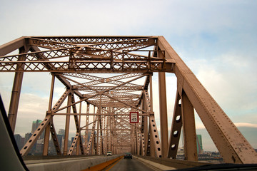 Driving over the old bridge