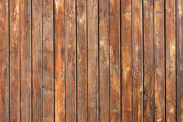 Background from a painted brown board wall
