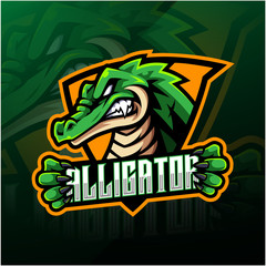 Alligator sport mascot logo design