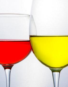 Colorful liquid in glassware