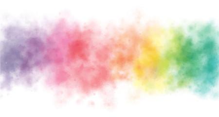 colorful rainbow watercolor wash splash background