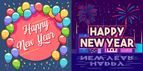 happy new year vector graphic design
