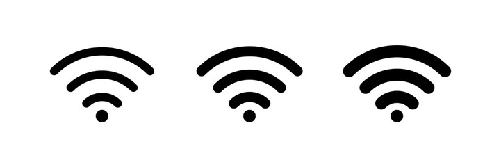 WI FI isolated vector icons. Icon for concept design. Wave icon. Wi-fi vector icon sign. Network signal. Wifi icon wireless internet connection signal. Cloud technology illustration.