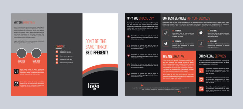 Corporate Trifold Brochure Design Template