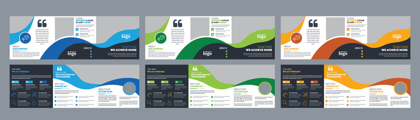 Corporate Square Trifold Brochure Design Template