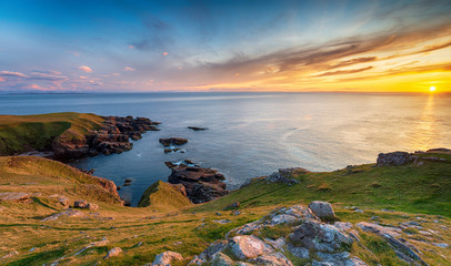 Wall Mural - Beautiful sunset from Stoer Head near Lochinver in Scotland