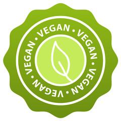 Wall Mural - Vegan badge stamp. Eps10 Vector Banner.