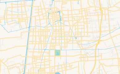 Printable street map of Taizhou, China