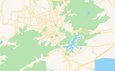 Printable street map of Wenling, China