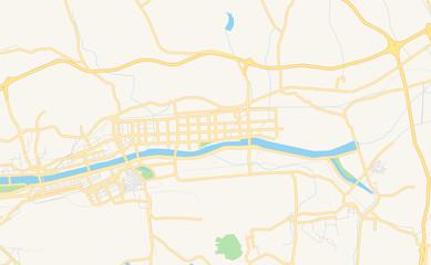 Printable street map of Fushun, China