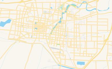 Printable street map of Heze, China