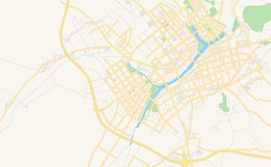 Printable street map of Chifeng, China