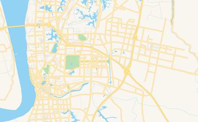 Printable street map of Wuhu, China