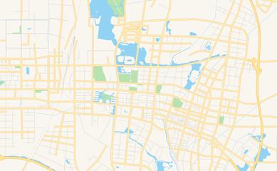 Printable street map of Yinchuan, China