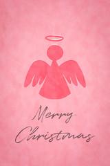 simple angel pink watercolor digital painting