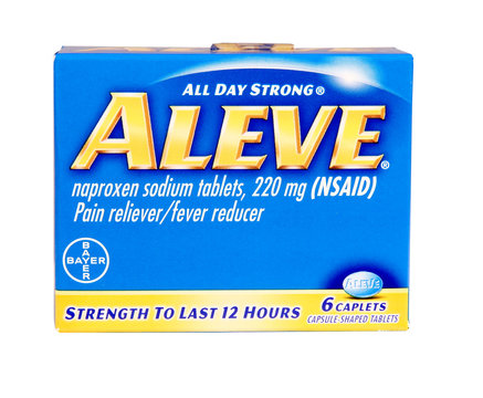 box of Aleve Pain Relever