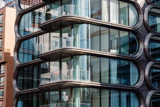 Modern residential building designed by Zaha Hadid architectsin New York