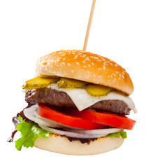 Image of hamburger on the plate